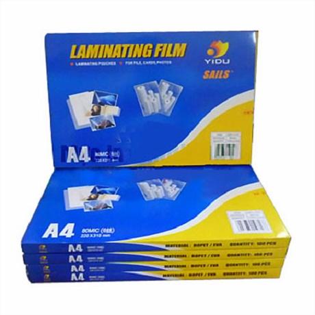 Laminating plastic film a4