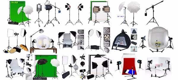 Giá cả đèn chụp ảnh ngoài trời trong phòng