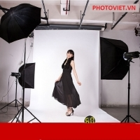 Bộ kit đèn flash studio NicePhoto MD003 2400w ( 3 đèn)