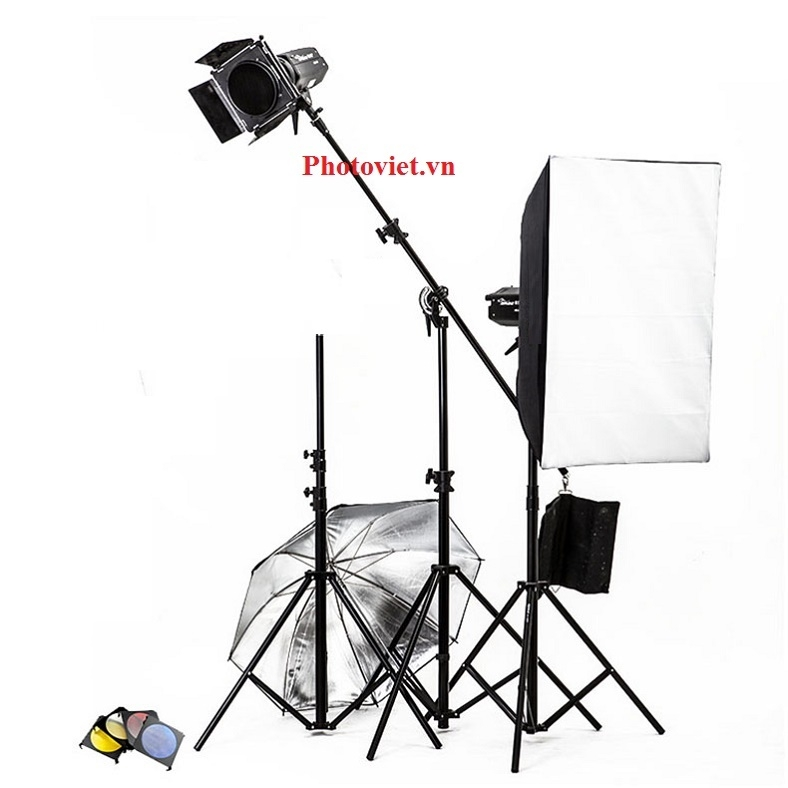 Bộ Đèn Kit Studio Hylow He300W-1 Photoviet