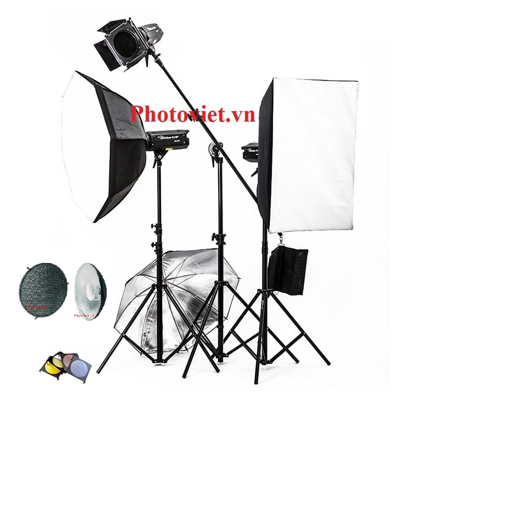 Bộ Đèn Kit Studio Hylow He300W-2 Photoviet