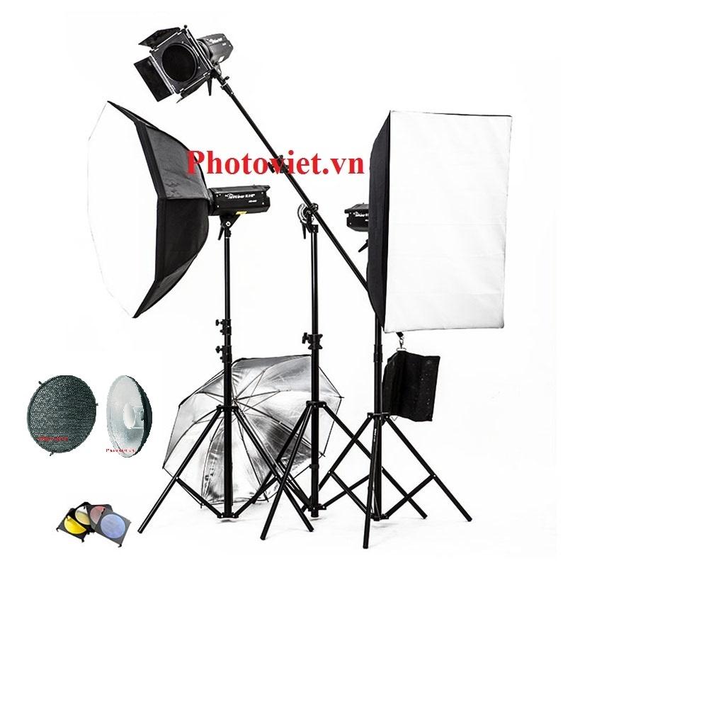 Bộ Đèn Kit Studio Hylow He300W-2 Photoviet