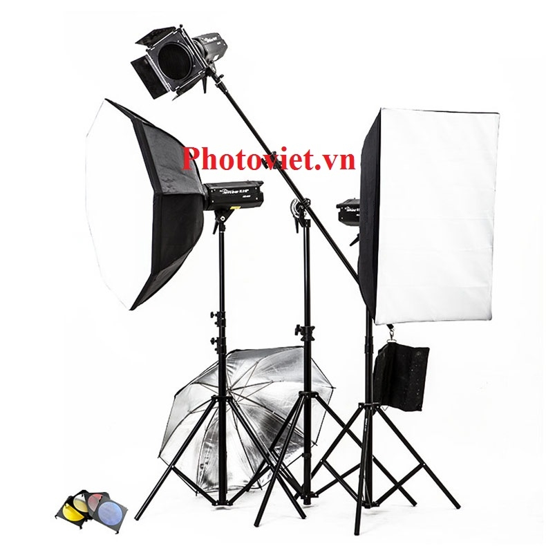 Bộ Đèn Kit Studio Hylow He400W-2 Photoviet