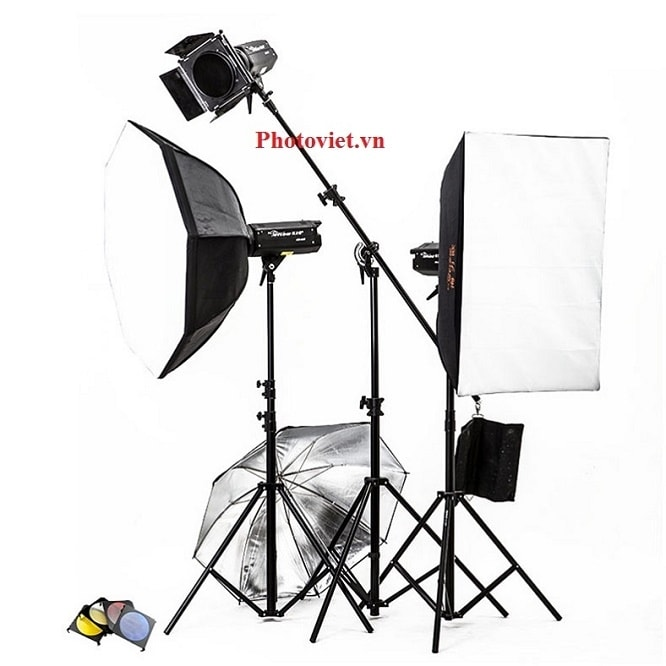 Bộ Đèn Kit Studio Hylow He600W-1 Photoviet