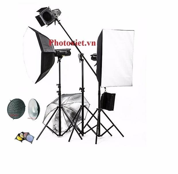 Bộ Đèn Kit Studio Hylow He800W-3 Photoviet