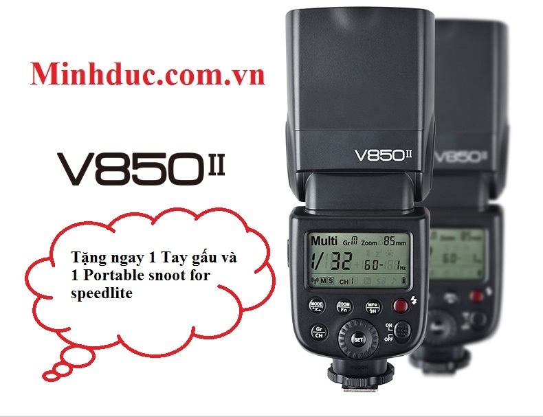BỘ KIT FLASH GODOX VING 850II GN58 HSS FOR CANON/NIKON/PENTAX/SONY Photoviet