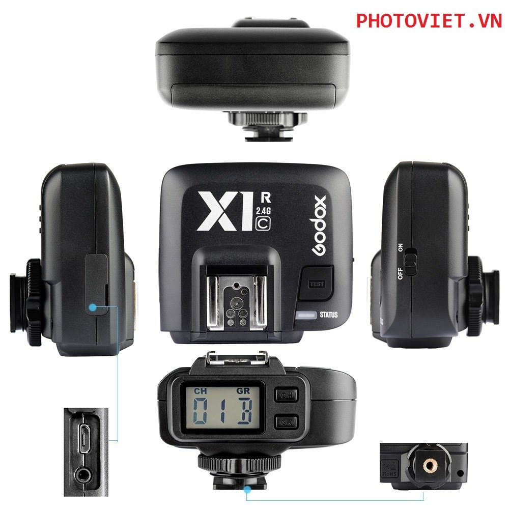 Bộ Trigger Godox X1-C TTL 2.4GHz Wireless Radio Flash Trigger X System for Canon 5DIII T6i 700D 650D 7D 6D cameras,580EXIII 600EX-R flashes