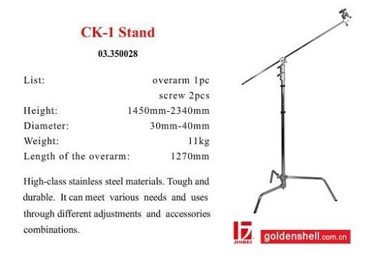 Chân Đèn Flash Jinbei CK1 C-Stand INOX 2 Khớp Nối Photoviet