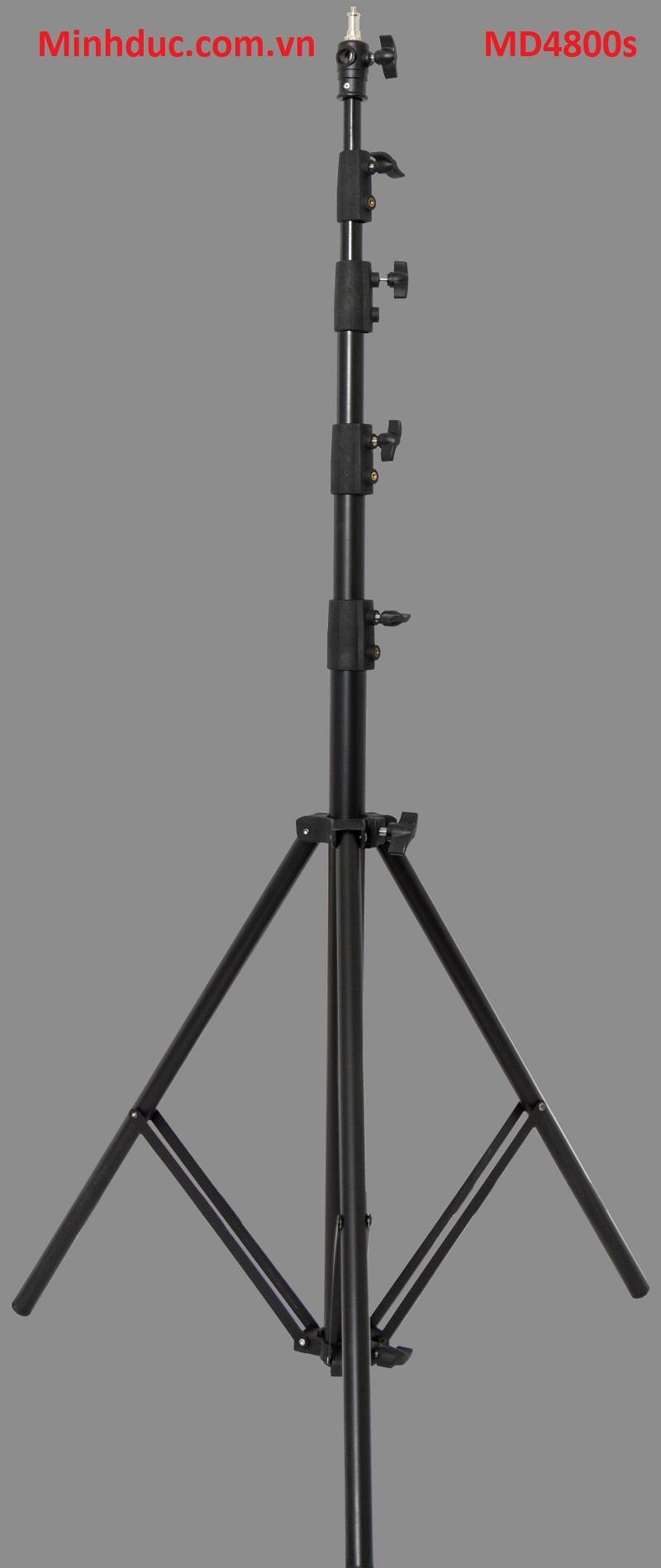 Chân Đèn Light Stand PT4800 Cao 480 Cm Có Đầu Thay Ren Photoviet