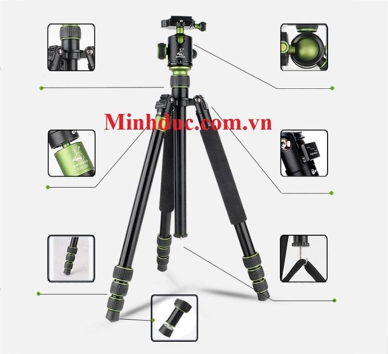Chân máy ảnh chuyên nghiệp bieke QZSD SYS788 (Tripod Heavy duty SYS788)