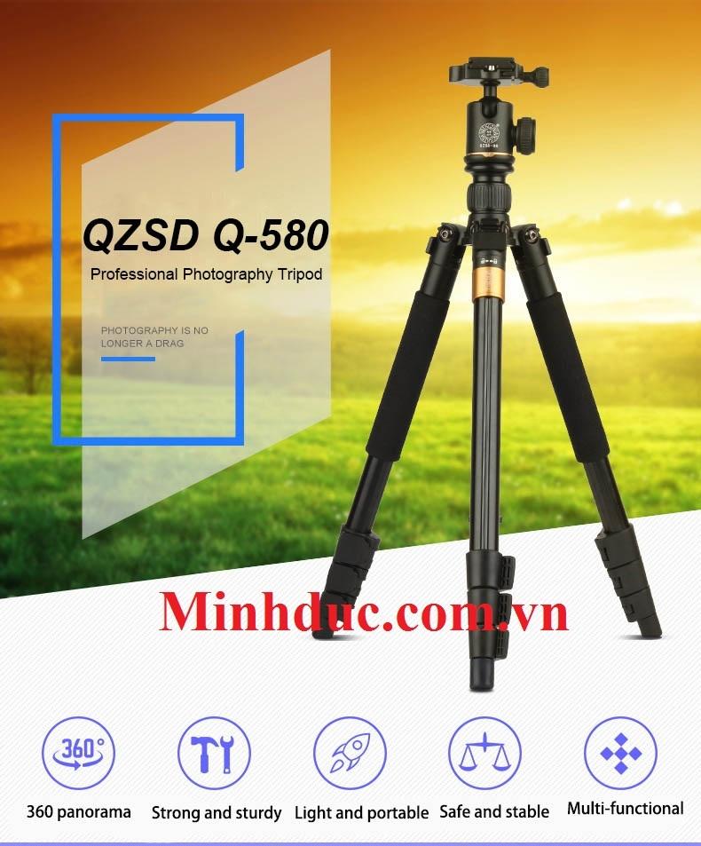 Chân máy ảnh chuyên nghiệp Tripod Beike QZSD – Q580