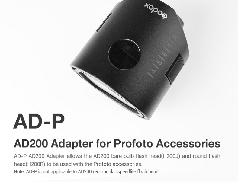 Đầu Đèn AD200 Adapter for Profoto Accessories AD-P