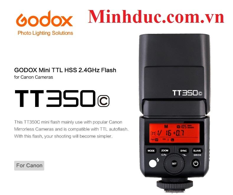Đèn Flash GODOX TT350C,N,S - HSS - TTL for Canon, Nikon,Sony, Fujifilm, Olympus Photoviet