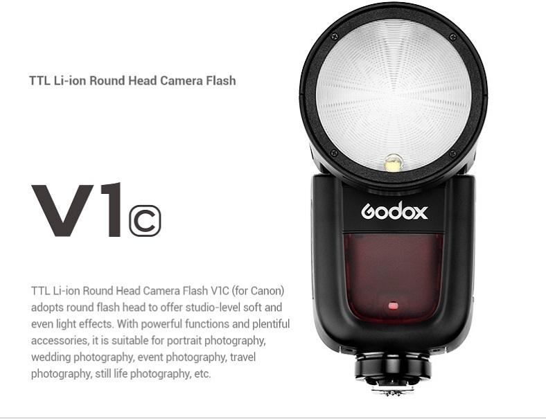Đèn Flash Godox V1C TTL Hss 1/8000 For Canon Camera