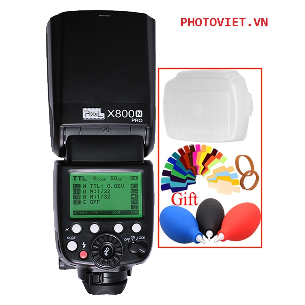 ĐÈN FLASH PIXEL X800N PRO PHOTOVIET