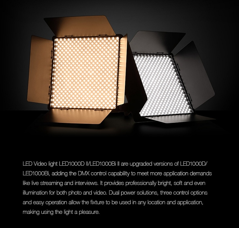 Đèn LED DMX Godox LED1000D II 5600k Video Light