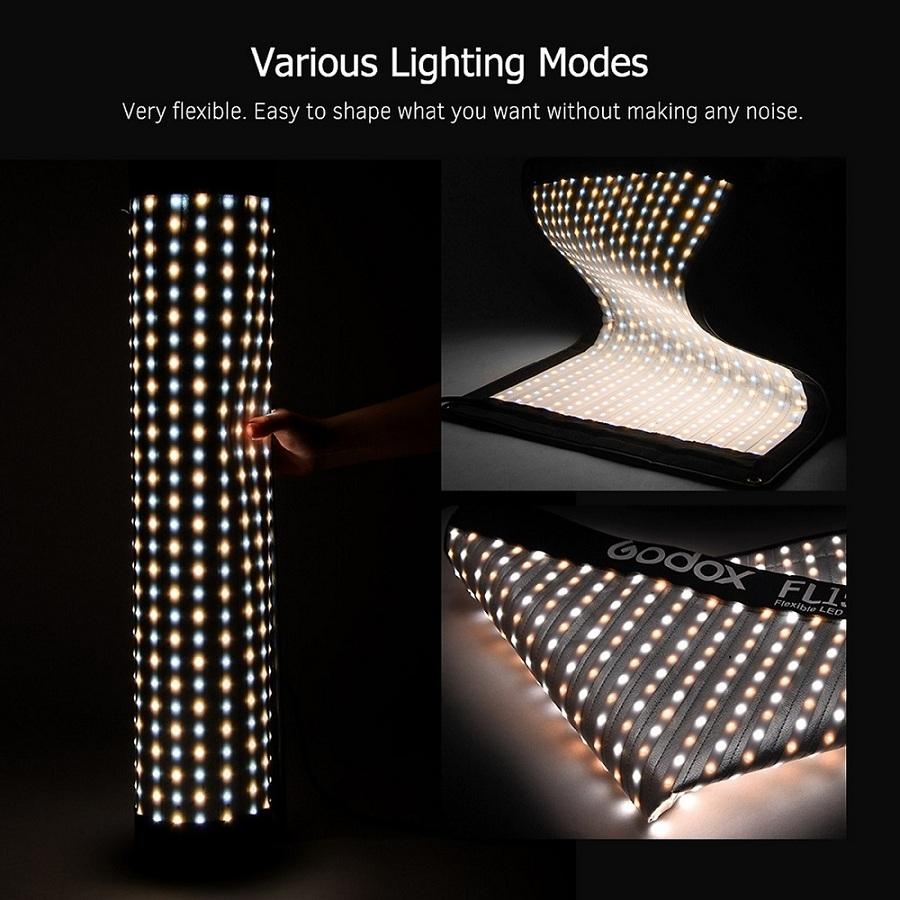 Đèn Led Godox FL150R Dạng Vải Có Thể Gập Lại Với Bộ Điều Khiển Từ Xa Cho Chụp Chân Dung Ngoài Trời (150W) (30x120cm)