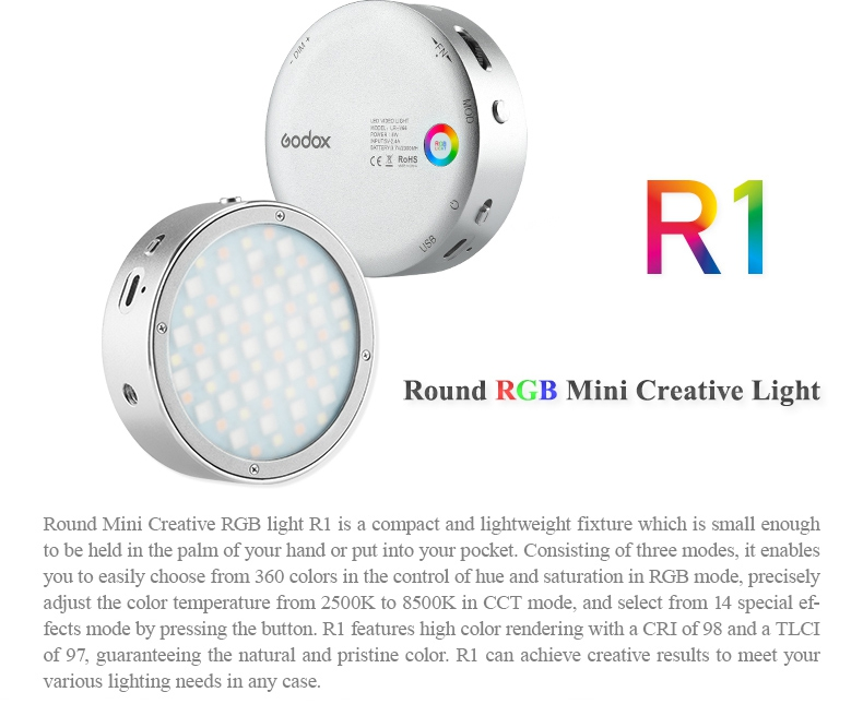 Đèn LED Godox RGB R1