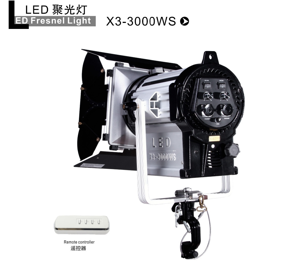 ĐÈN NiceFoto LED fresnel light X3-3000WS 5600k
