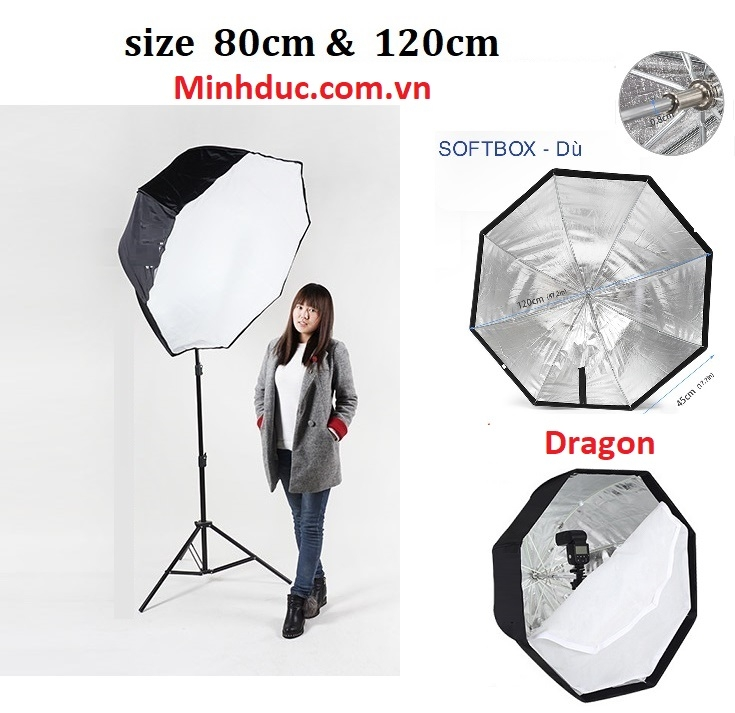 Dù softbox Dragon 80cm Photoviet