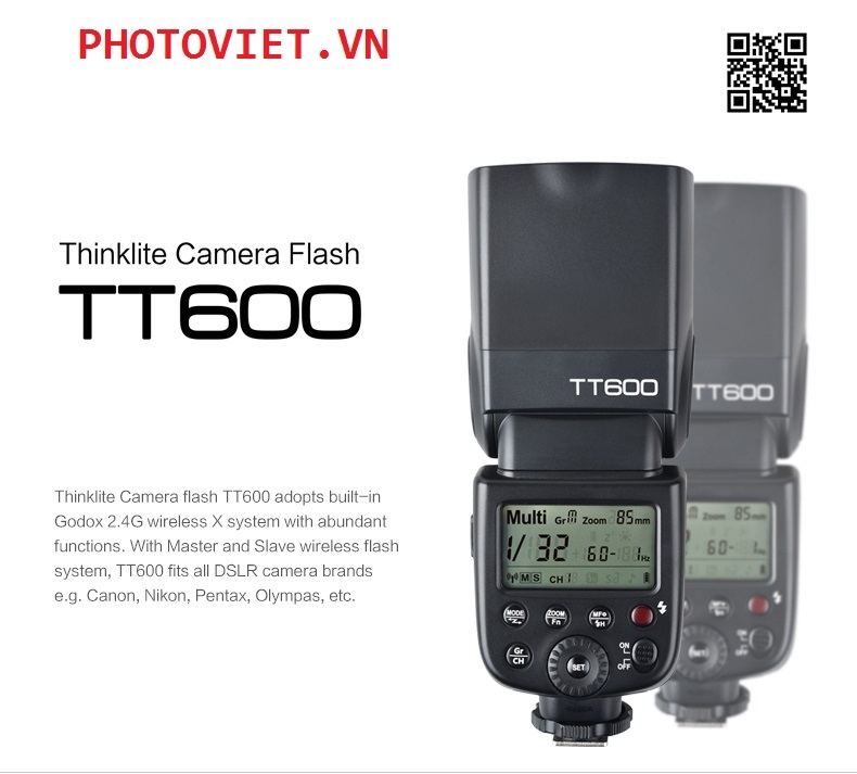 Godox TT600 Manual - GN60 - High speed sync for Canon Nikon Sony