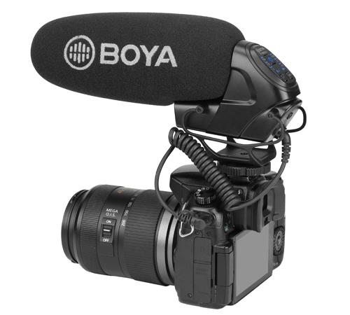 Micro thu âm gắn máy Boya BY-BM3032 hàng chính hãng