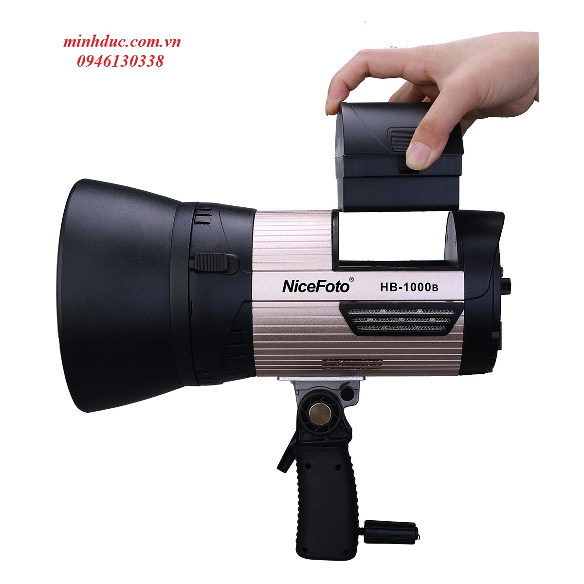 NiceFoto LED video light HB-1000B dùng pin Photoviet