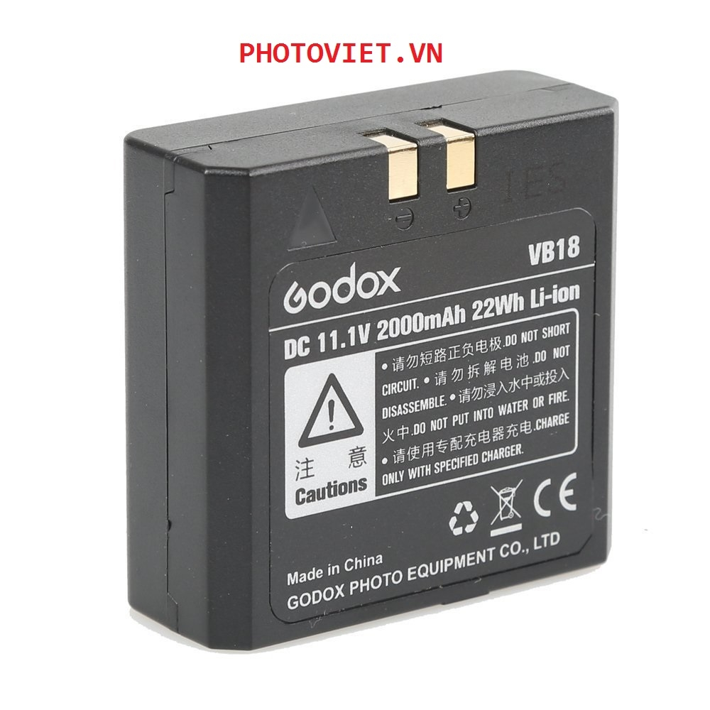 Pin Li-ion Battery GODOX VB18 for Godox V850 V860 series