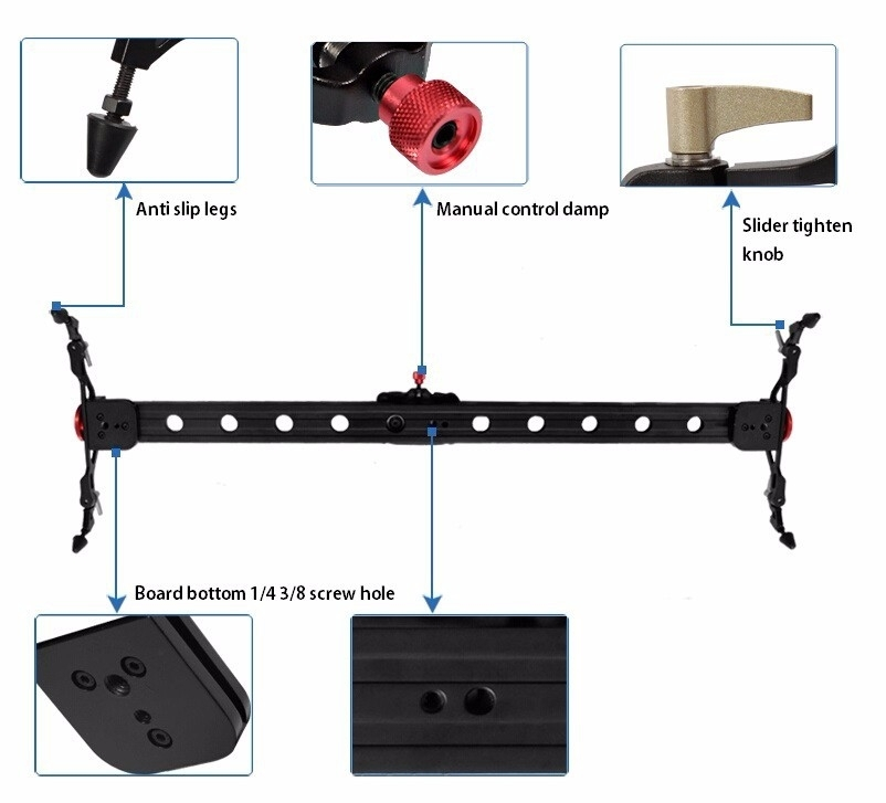 Thanh Dolly Dragon -D02 60cm Slider Rail for Camera and Video