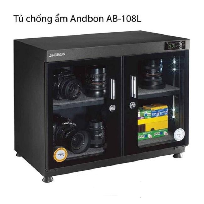 Tủ Chống Âm Andbon AB-108L(110 Lít) Bảng Điều Khiển Ngoài- Đèn Led