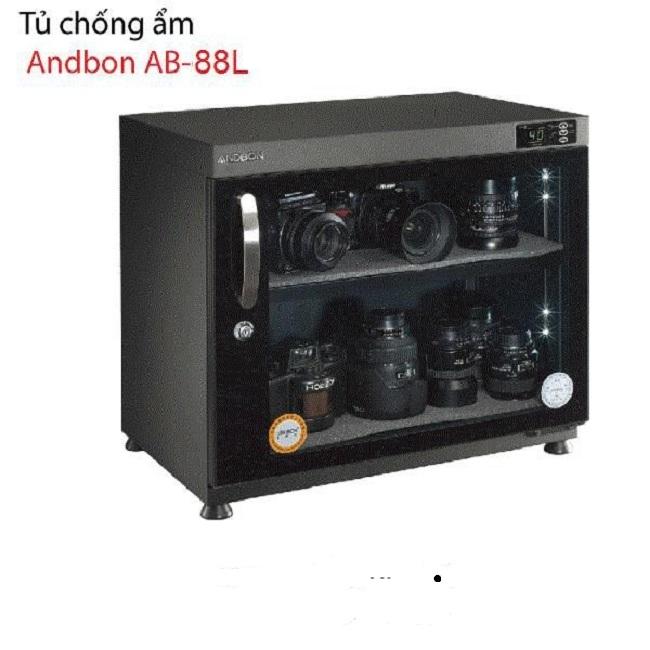 Tủ Chống Ẩm Andbon AB-88L(90 Lít), Điều Khiển Ngoài, Đèn Led